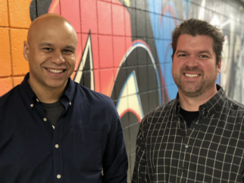Robertson School advertising assistant professors Marcel Jennings (left) and Jay Adams, and the VCU Brandcenter's Ashley Sommardahl, won a $20,000 grant for a Fall 2018 student consulting marathon.